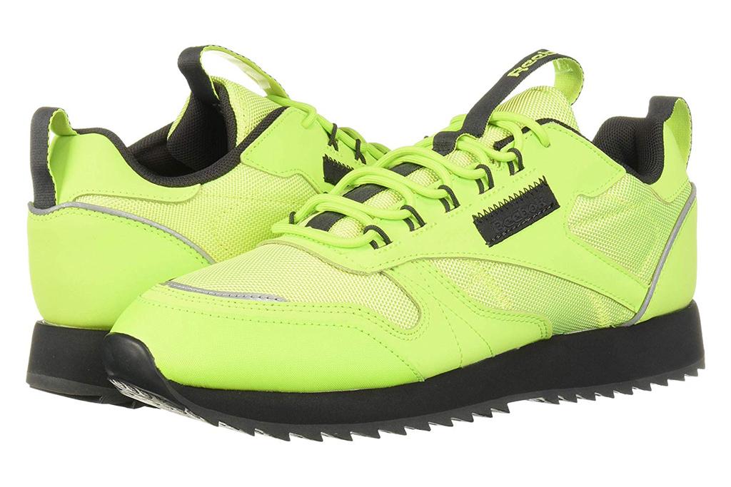reebok neon green sneakers