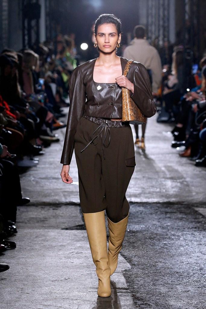 Model on the catwalkRejina Pyo show, Runway, Fall Winter 2020, London Fashion Week, UK - 15 Feb 2020