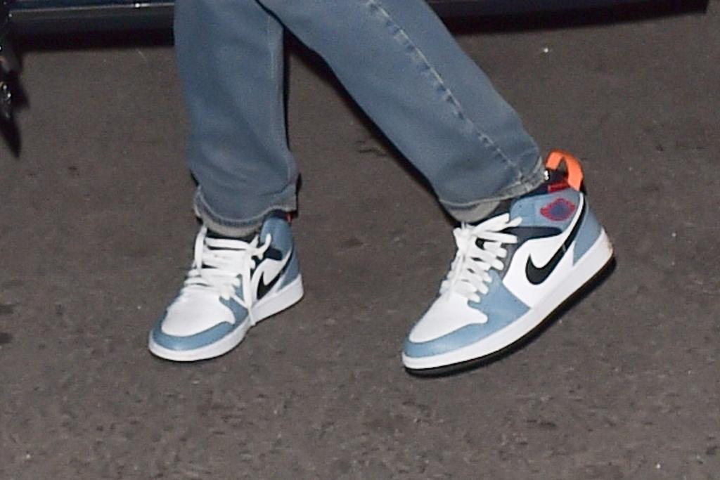 rihanna, Air Jordan 1 Mid SE Facetasm, sneakers, shoe detail, nyc, street style