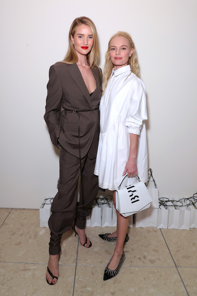 Rosie Huntington-Whiteley and Kate Bosworth Byredo Store Opening, Inside, Los Angeles, USA - 13 Feb 2020 Wearing Bottega Veneta