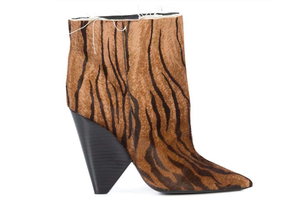 Saint Laurent tiger print boots, tiger print boots, designer