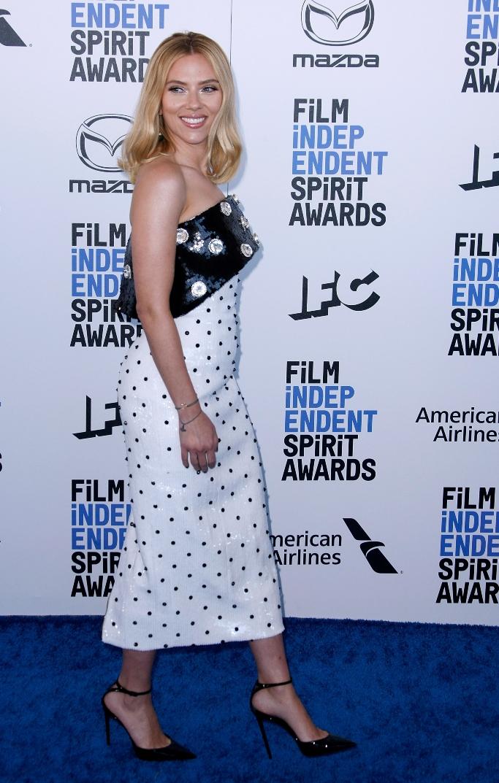Scarlett Johansson, balmain pre-fall 2020