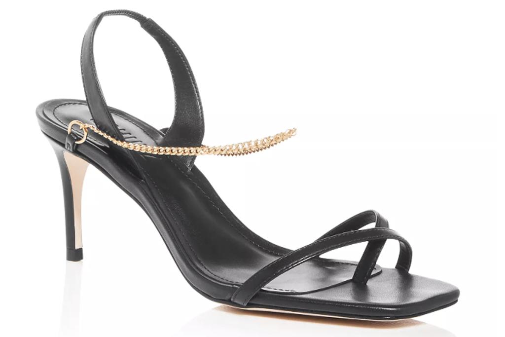 Schutz, square toe sandals