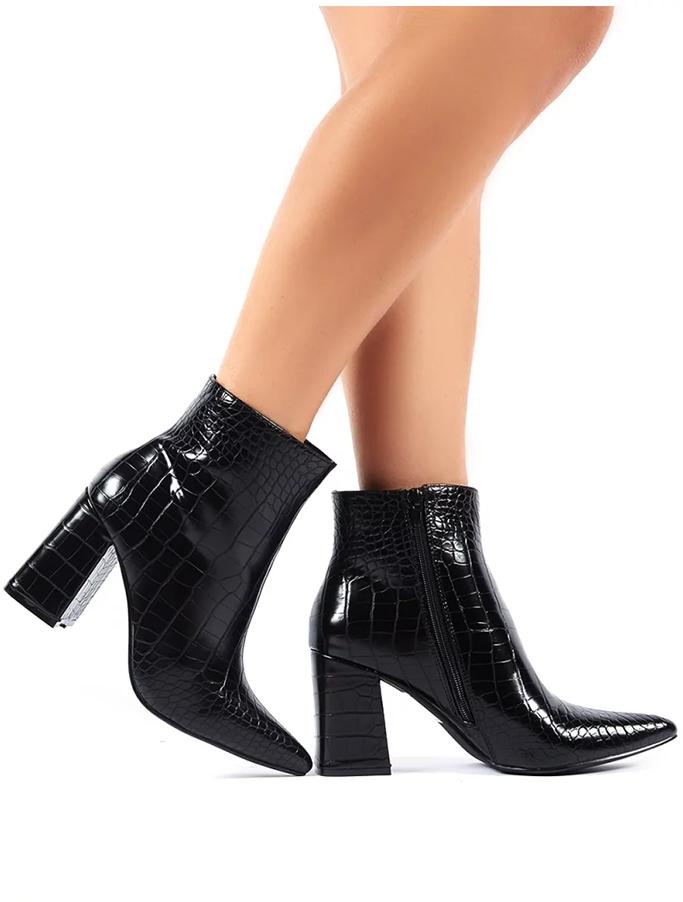 Public Desire mock croc boots