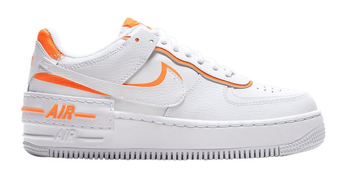 Nike white and orange sneakers