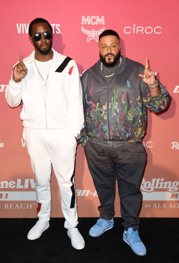 sean diddy combs and dj khaled, Rolling Stone Super Bowl LIV Party