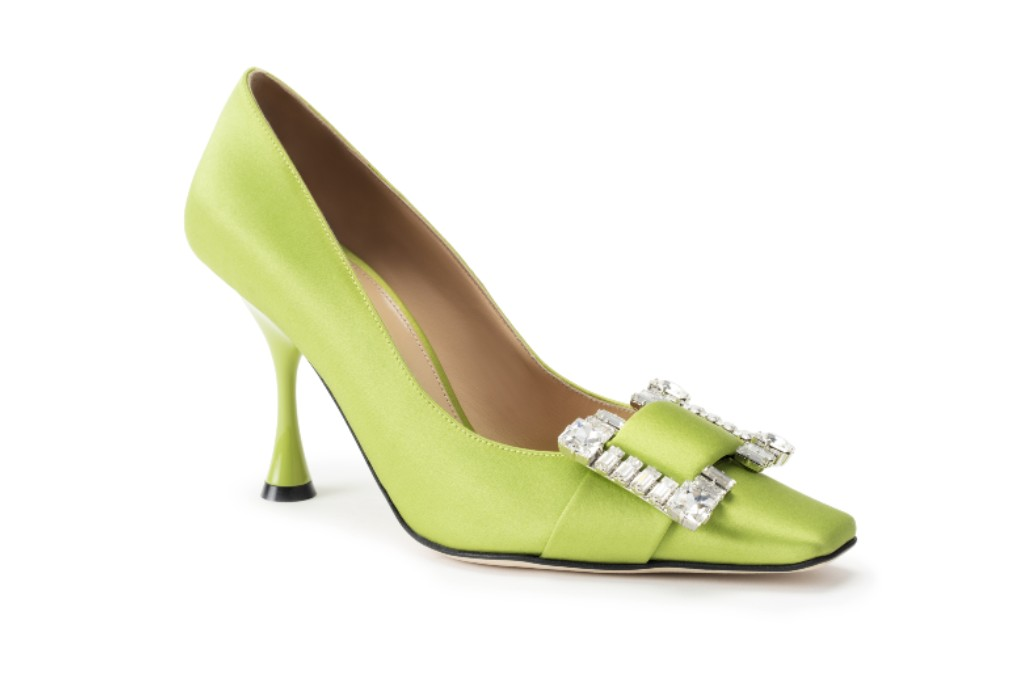 sergio rossi, fall 2020, lime green