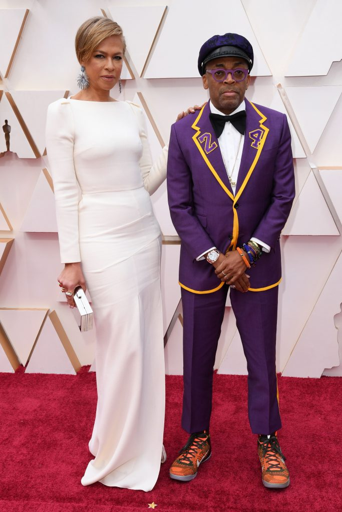 kobe bryant tuxedo, tribute, Tonya Lewis Lee and Spike Lee92nd Annual Academy Awards, Arrivals, Los Angeles, USA - 09 Feb 2020