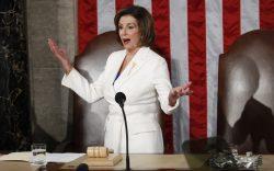 nancy pelosi, white dress, Speaker of