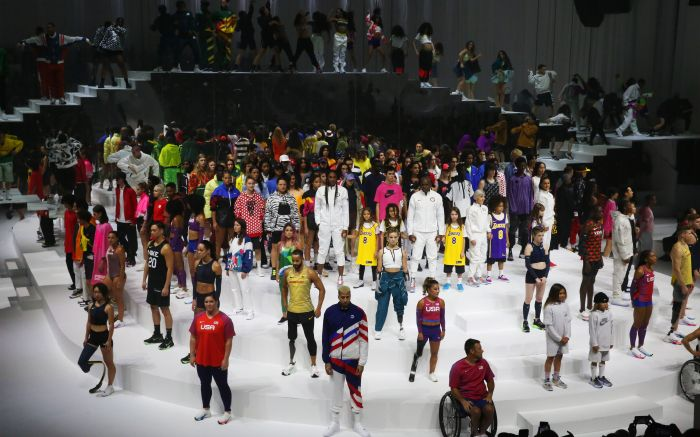 Models on the catwalk, Kobe Bryant tributeNike show, Runway, Fall Winter 2020, New York Fashion Week, USA - 05 Feb 2020