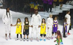 Models on the catwalk, Kobe Bryant