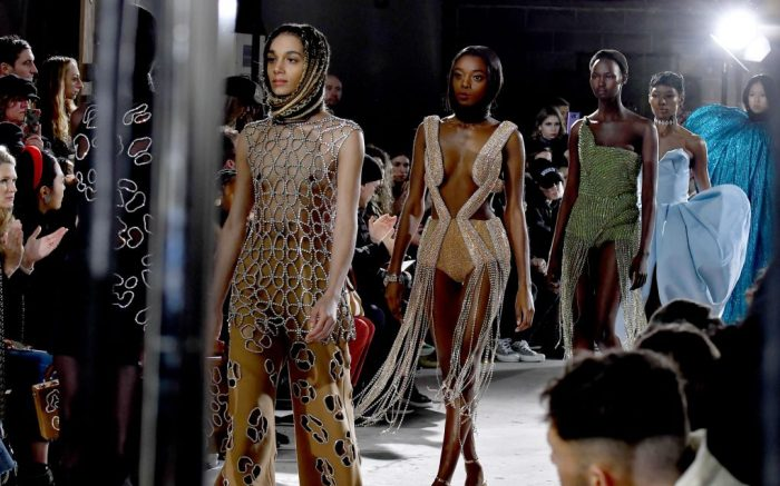 Models on the catwalkArea show, Runway, Fall Winter 2020, New York Fashion Week, USA - 09 Feb 2020