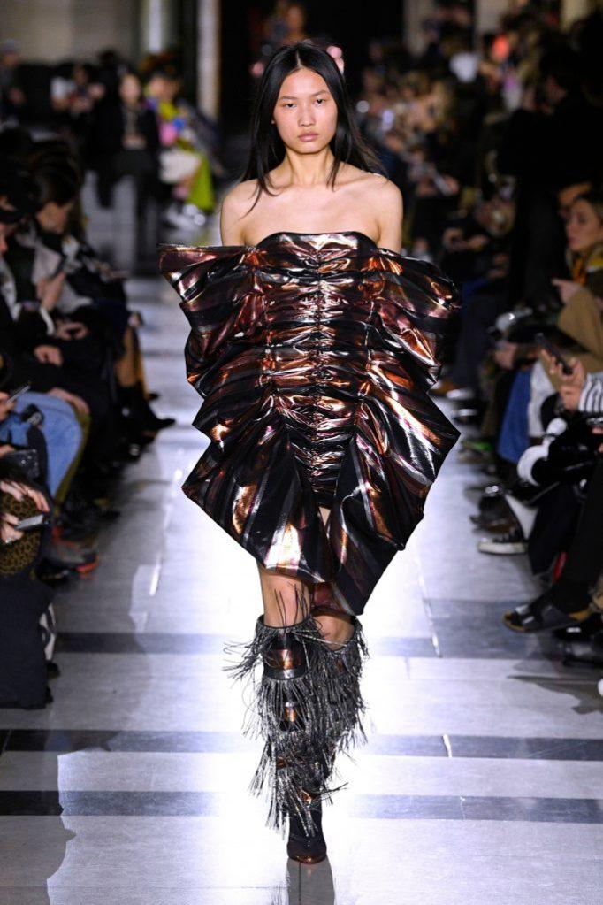 halpern, fall 2020, runway, lfw, Model on the catwalkHalpern show, Runway, Fall Winter 2020, London Fashion Week, UK - 15 Feb 2020