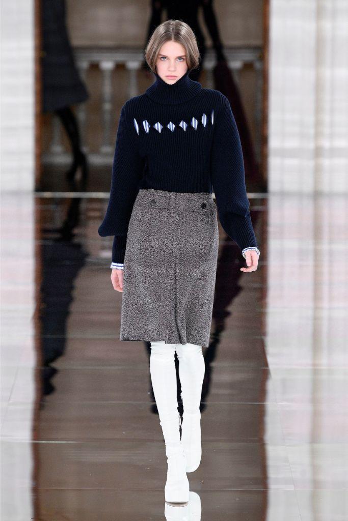 Victoria Beckham , fall 2020, runway, white boots