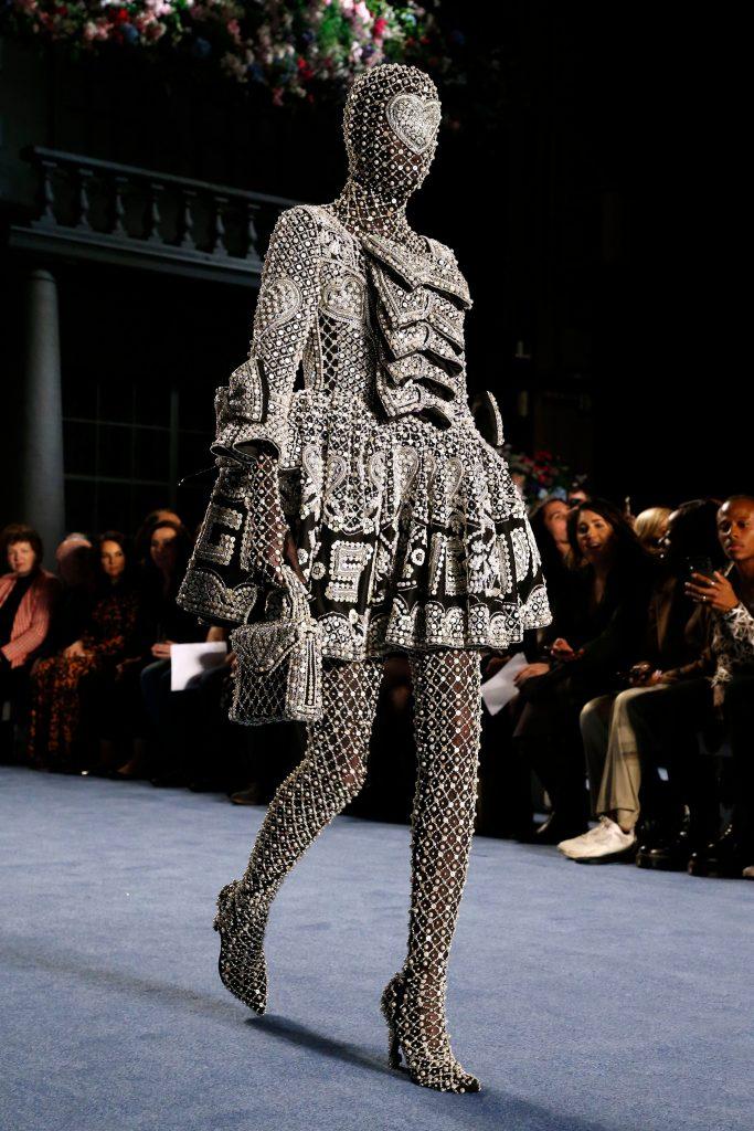 richard quinn, runway, lfw, Model on the catwalkRichard Quinn show, Runway, Fall Winter 2020, London Fashion Week, UK - 15 Feb 2020