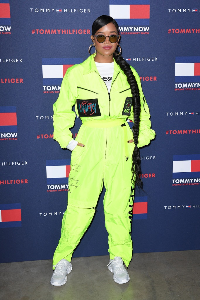H.E.R.Tommy Hilfiger show, Arrivals, Fall Winter 2020, London Fashion Week, UK - 16 Feb 2020