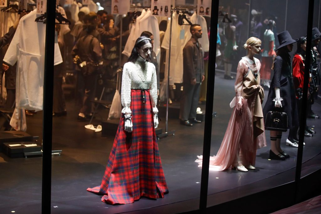 Models wear creations as part of Gucci's Fall/Winter 2020/2021 collection, presented in Milan, ItalyFashion F/W 20/21 Gucci, Milan, Italy - 19 Feb 2020