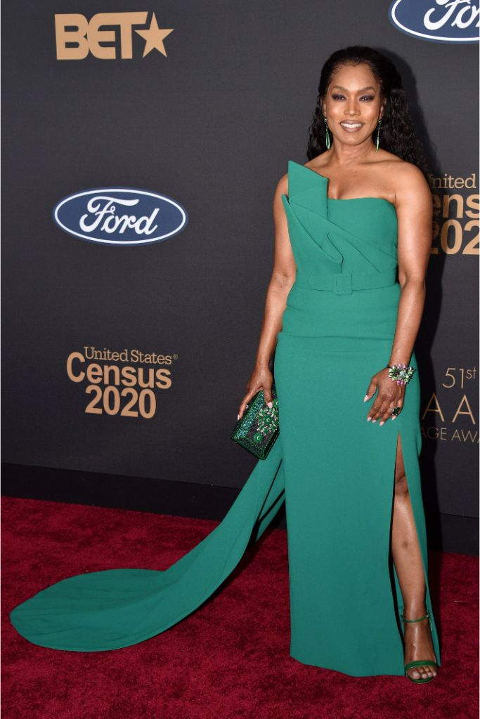 angela bassett, best dressed, Azzi & Osta couture, naacp awards