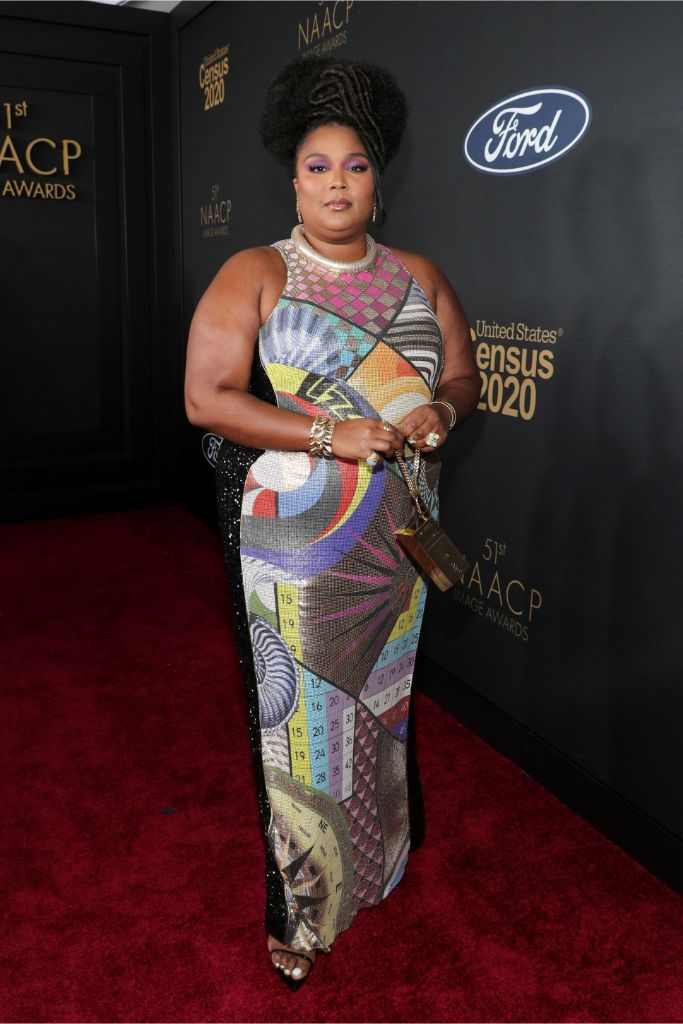 lizzo, naacp image awards red carpet