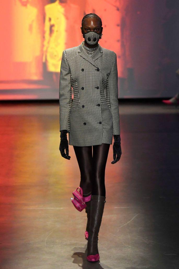 marine serre, coronavirus, mask, paris fashion week