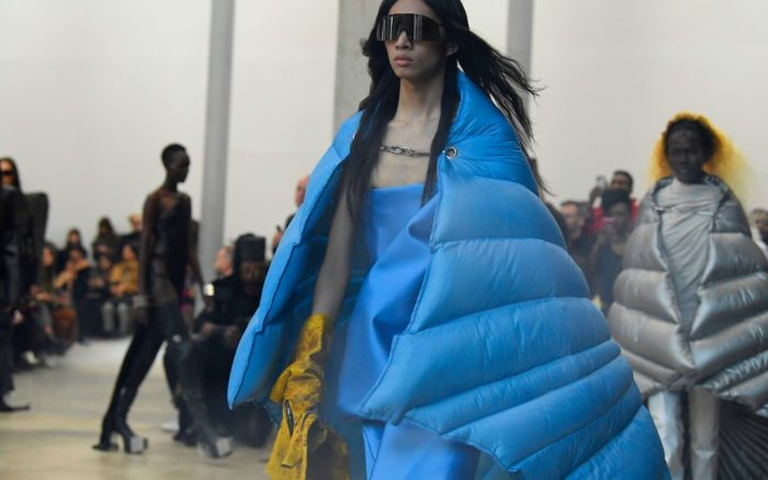 Model on the catwalkRick Owens show, Runway, Fall Winter 2020, Paris Fashion Week, France - 27 Feb 2020