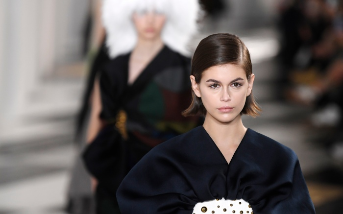 Kaia Gerber on the catwalk Loewe show, Runway, Fall Winter 2020, Paris Fashion Week, France - 28 Feb 2020