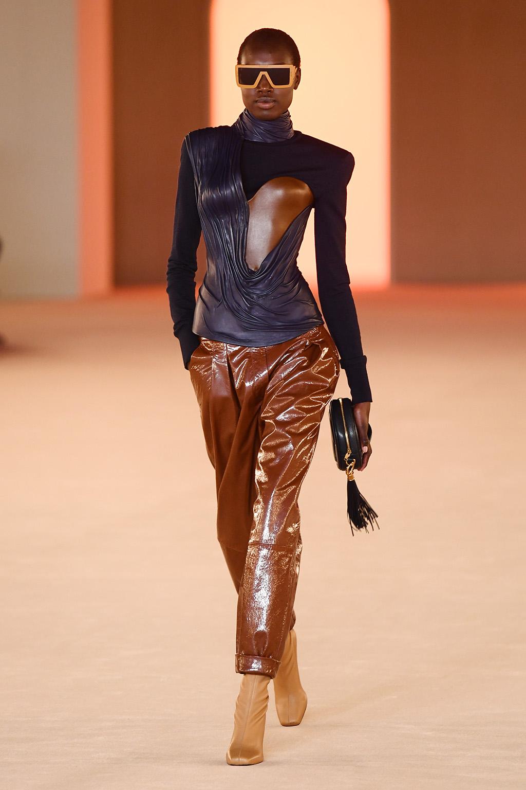 Model on the catwalkBalmain show, Runway, Fall Winter 2020, Paris Fashion Week, France - 28 Feb 2020