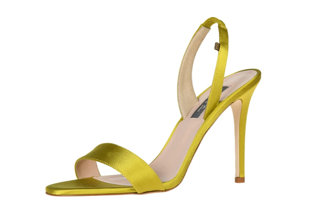 SJP Collection x Every Outfit on Sex & the City Rogue heels, pink, yellow, mixed, carrie bradshaw