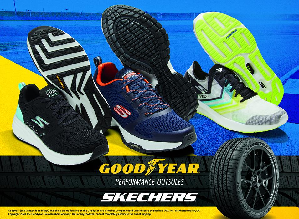skechers, goodyear, tires, soles