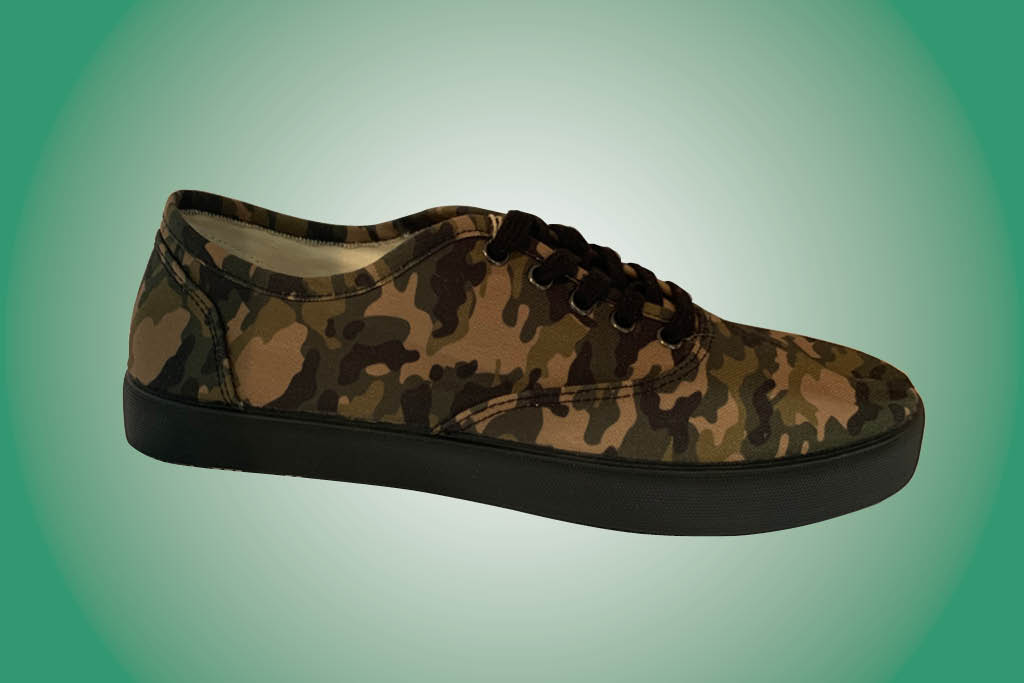 DNA Sustainable Footwear, sneaker, camo, sole commerce
