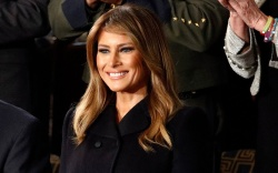 First Lady Melania Trump arrives before