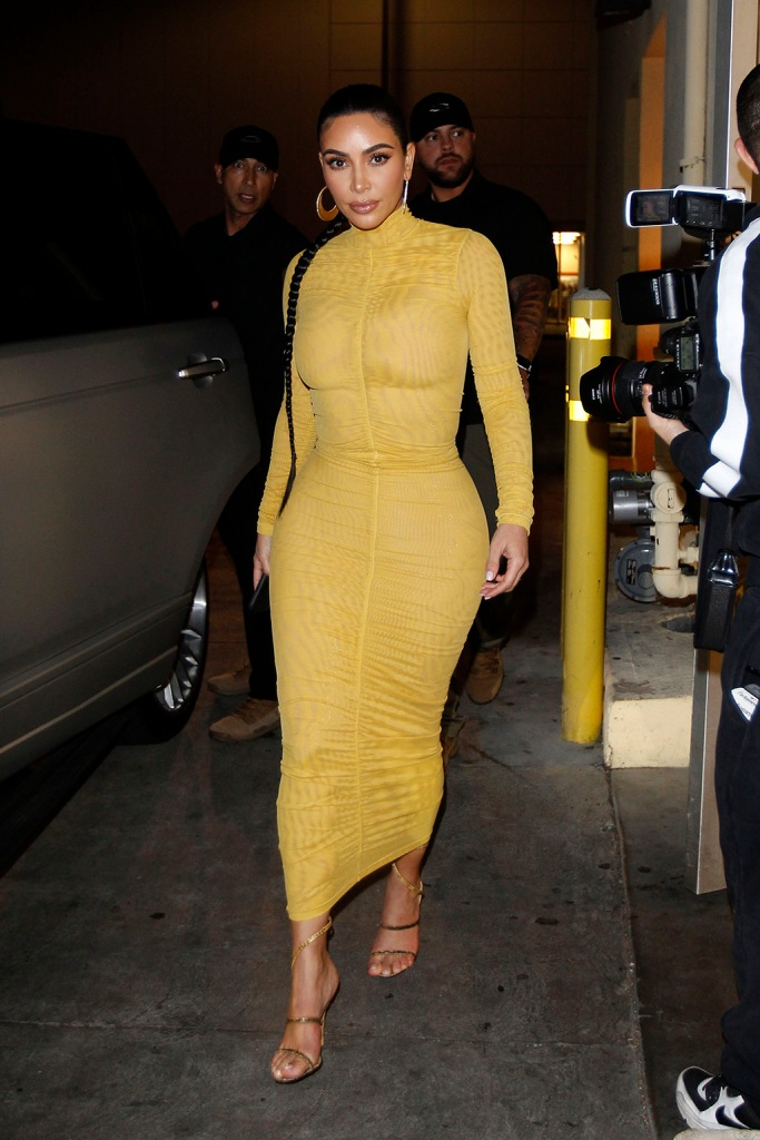 Kim Kardashian, yellow dress, bodycon dress, gold sandals, braid, strappy sandals, and Kris Jenner arrive at Carousel restaurant in Los Angeles, California. The mother daughter duo cam straight from the studio where they had been filming 'My Next Guest Needs No Introduction with David Letterman' to the popular Middle Eastern restaurant in Glendale. The stars were filming 'Keeping up with the Kardashians' alongside Kourtney and Khloe.Pictured: Kim Kardashian,Kris JennerRef: SPL5150240 190220 NON-EXCLUSIVEPicture by: SplashNews.comSplash News and PicturesLos Angeles: 310-821-2666New York: 212-619-2666London: +44 (0)20 7644 7656Berlin: +49 175 3764 166photodesk@splashnews.comWorld RightsKim Kardashian and Kris Jenner arrive at Carousel restaurant in Los Angeles, California. The mother daughter duo cam straight from the studio where they had been filming 'My Next Guest Needs No Introduction with David Letterman' to the popular Middle Eastern restaurant in Glendale. The stars were filming 'Keeping up with the Kardashians' alongside Kourtney and Khloe.Pictured: Kim Kardashian,Kris JennerRef: SPL5150240 190220 NON-EXCLUSIVEPicture by: SplashNews.comSplash News and PicturesLos Angeles: 310-821-2666New York: 212-619-2666London: +44 (0)20 7644 7656Berlin: +49 175 3764 166photodesk@splashnews.comWorld Rights