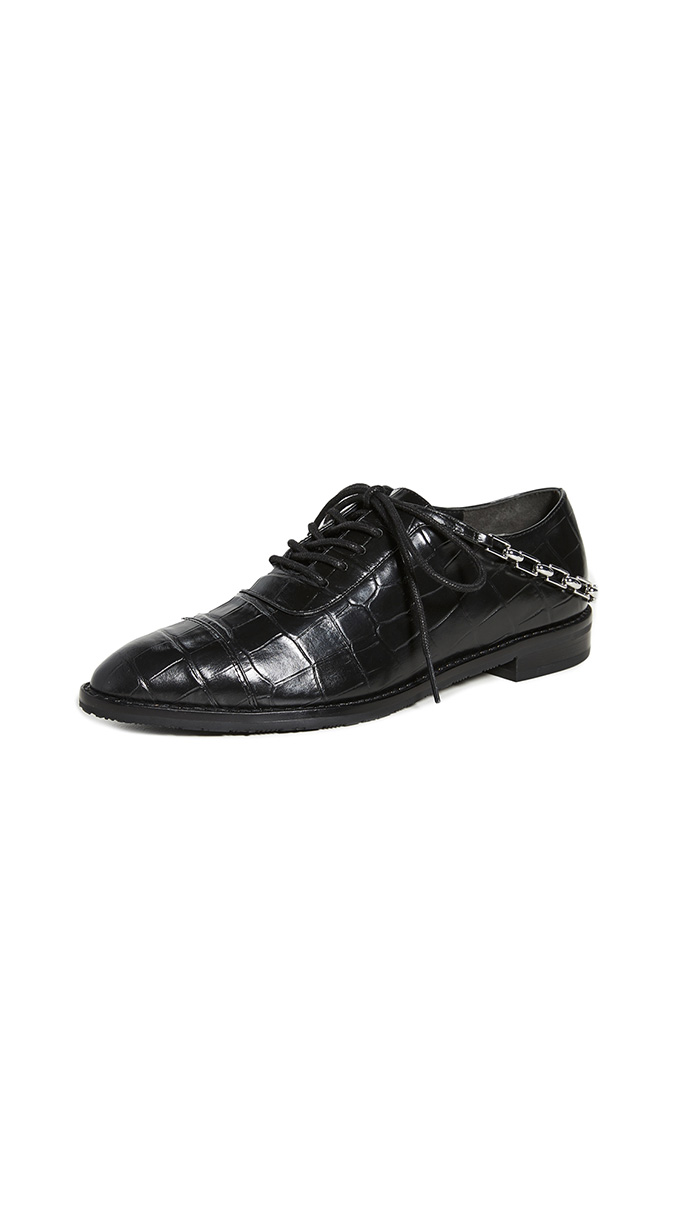 Stella Luna chain oxford shoes