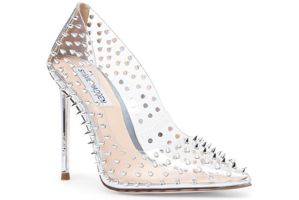 Steve Madden, clear heels,