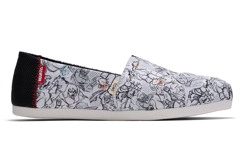 toms, marvel, sneakers