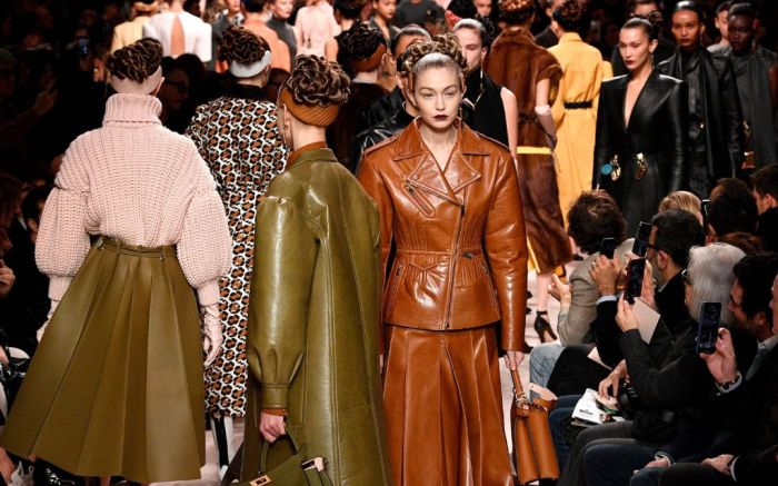 milan fashion week, top trends, fall 2020, gigi hadid, fendi