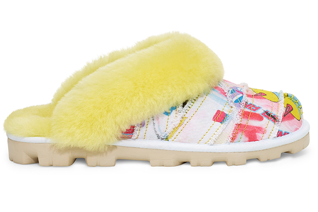 Ugg Coquette Pop Angeles slipper, ugg, slippers, yellow, pattern