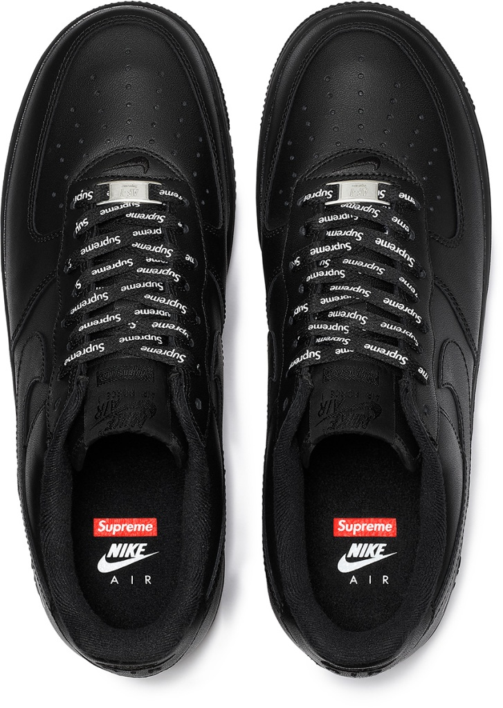 Supreme x Nike Air Force 1 Low Black Spring/Summer 2020
