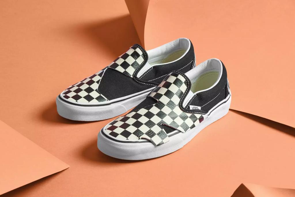 vans, oragami, slip-on, sneaker, checker