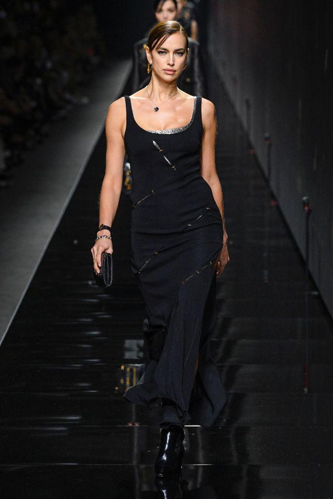 irina shayk, fall 2020, versace, milan fashion week