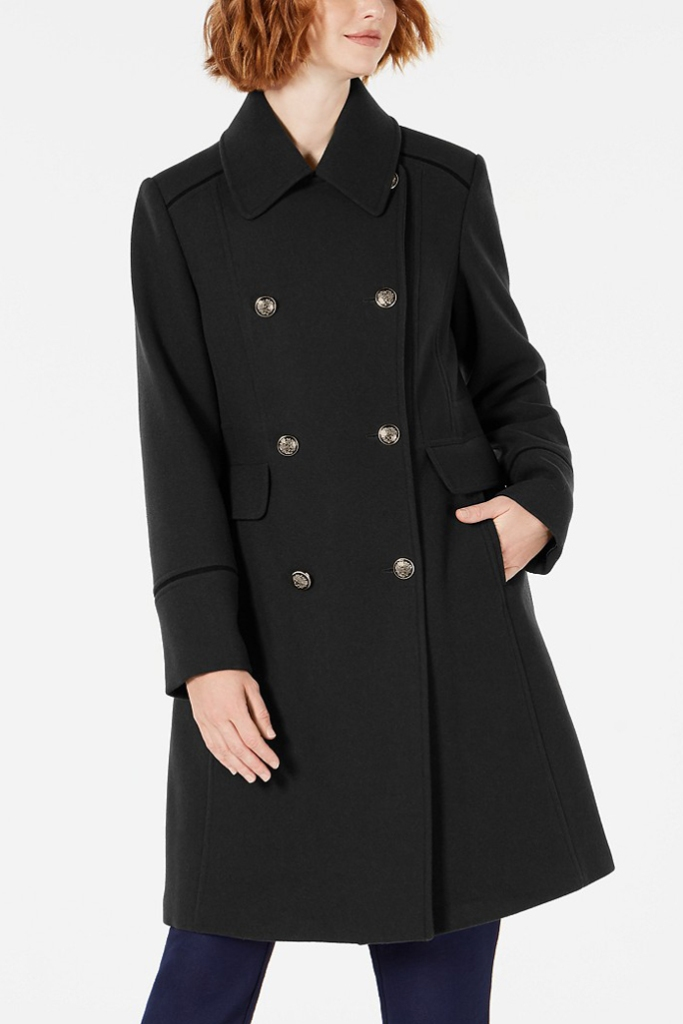 Vince Camuto, double breasted coat