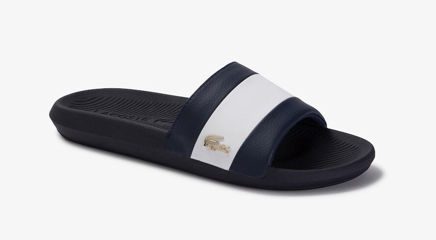 Lacoste Croco Metallic Slide