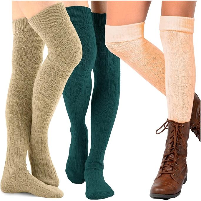boot socks, TeeHee Over-the-Knee Socks