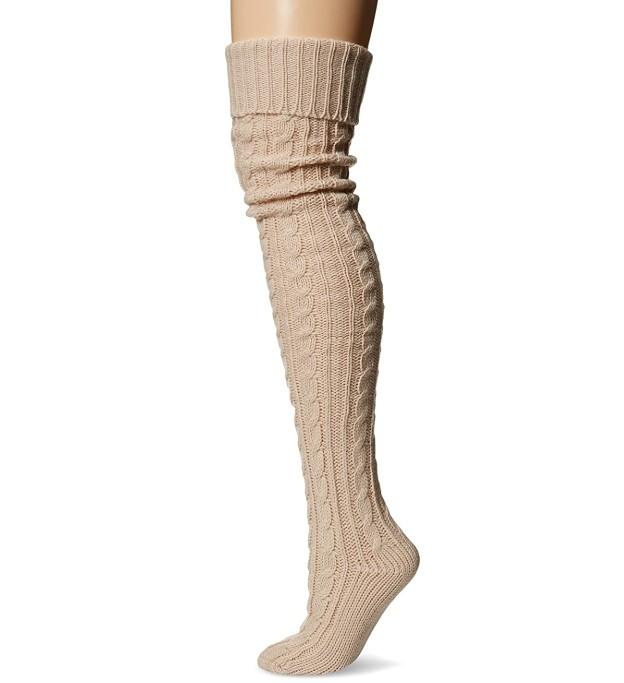 Muk Luks Knee High Cable Socks