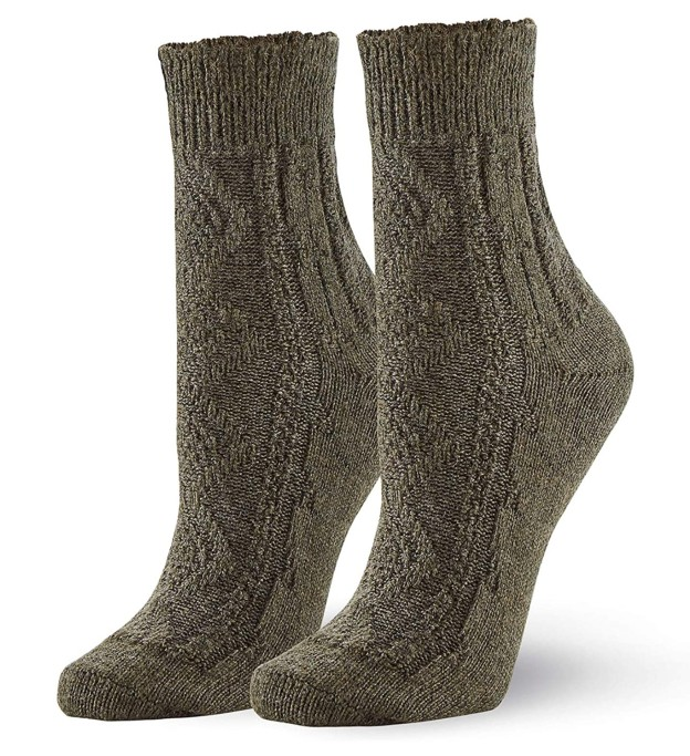 hue Frilly Cable Sock