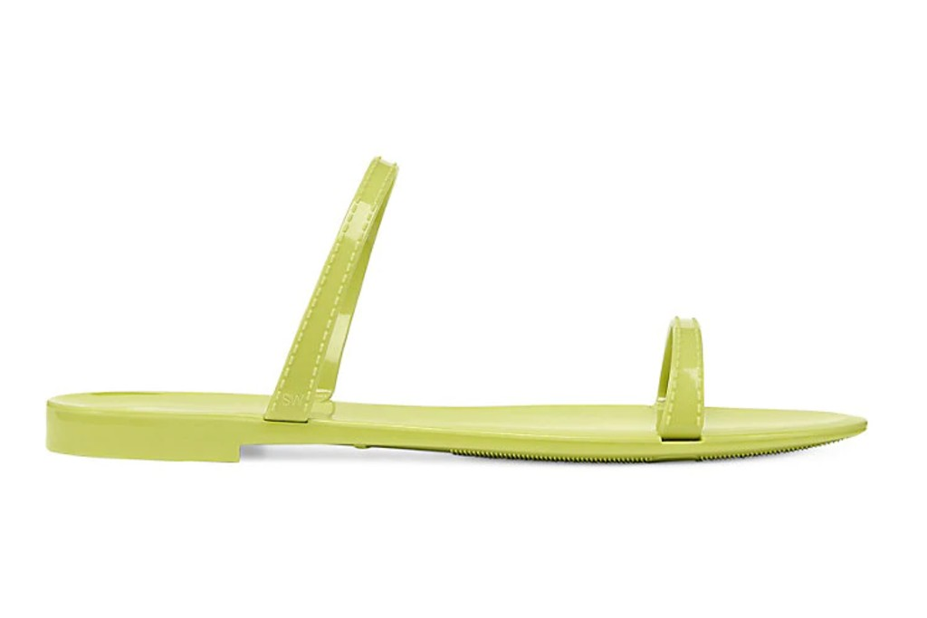 Stuart Weitzman Sawyer Neon Jelly Slides, best spring sandals