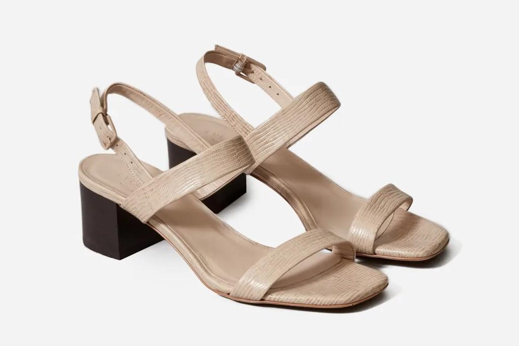 Everlane Double-Strap Block Heel Sandal, best spring sandals