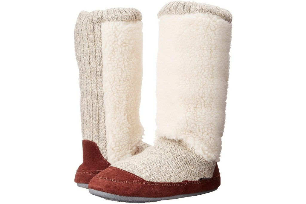 women's acorn slouch boot, boot slippers