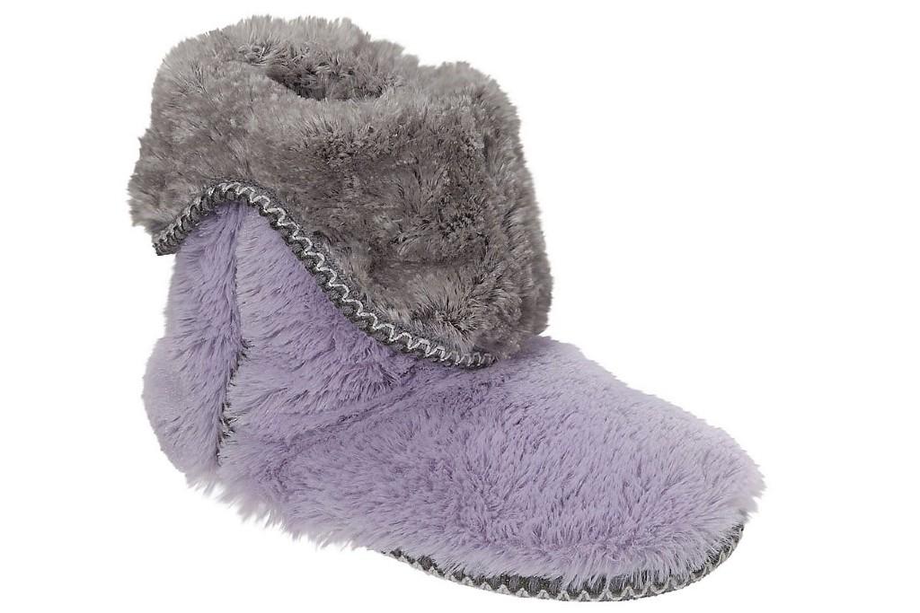 Dearfoams Faux-Fur Fold-Down Slipper Boots, boot slippers for women