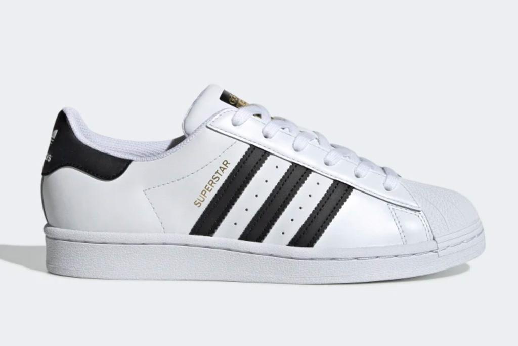 adidas, superstar, sneakers, black, white